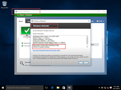Windows Defender not getting definition updates on a Windows