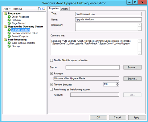 "Add the ""Trigger Setup Rollback"" Step in Windows vNext"