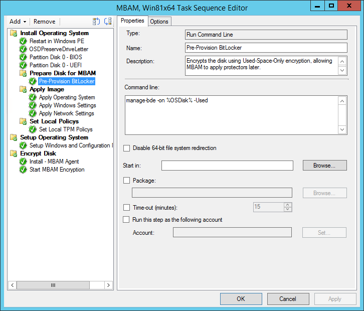 Deploying Windows 8 with MBAM Used-Space-Only Encryption – CTGlobal