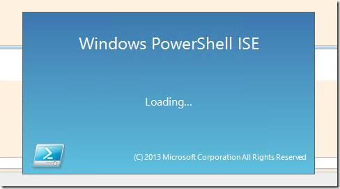 PowerSHell_ISE_Starting