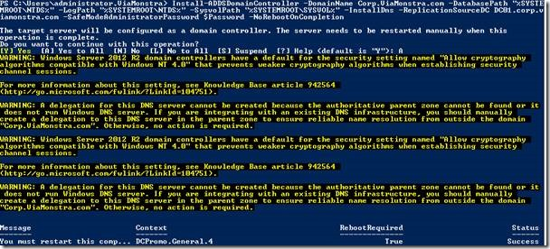 Installing a Domain Controller on Windows Server 2012 R2
