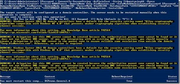 Installing Active Directory Domain Services on Windows