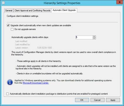 Upgrade to System Center 2012 R2 Configuration Manager SP1