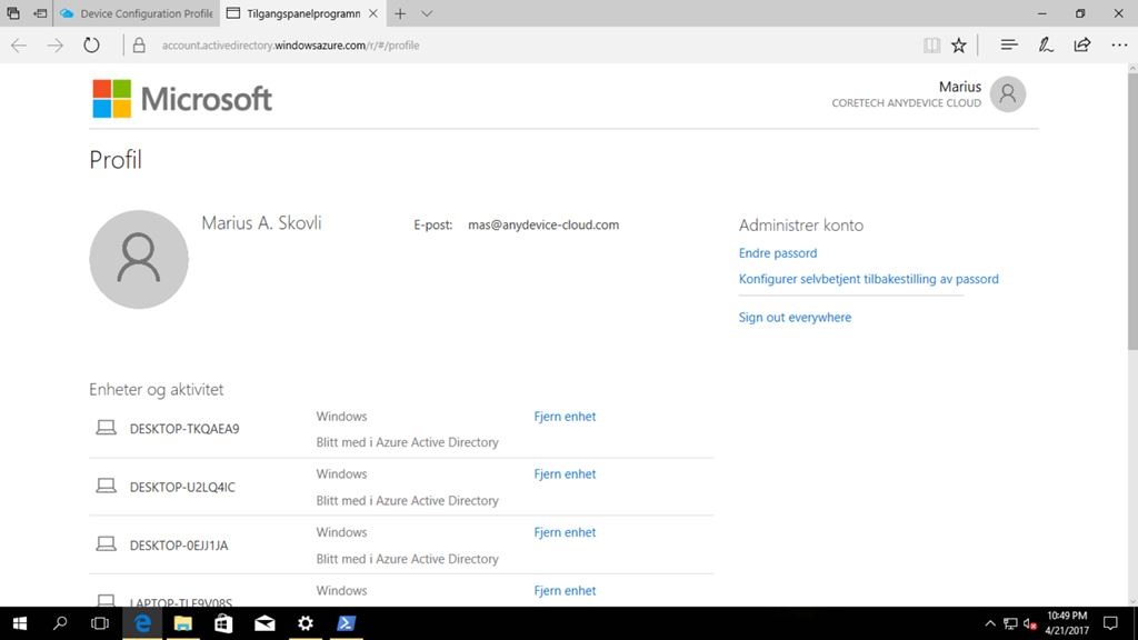 How to manage Bitlocker on a Azure AD Joined Windows 10