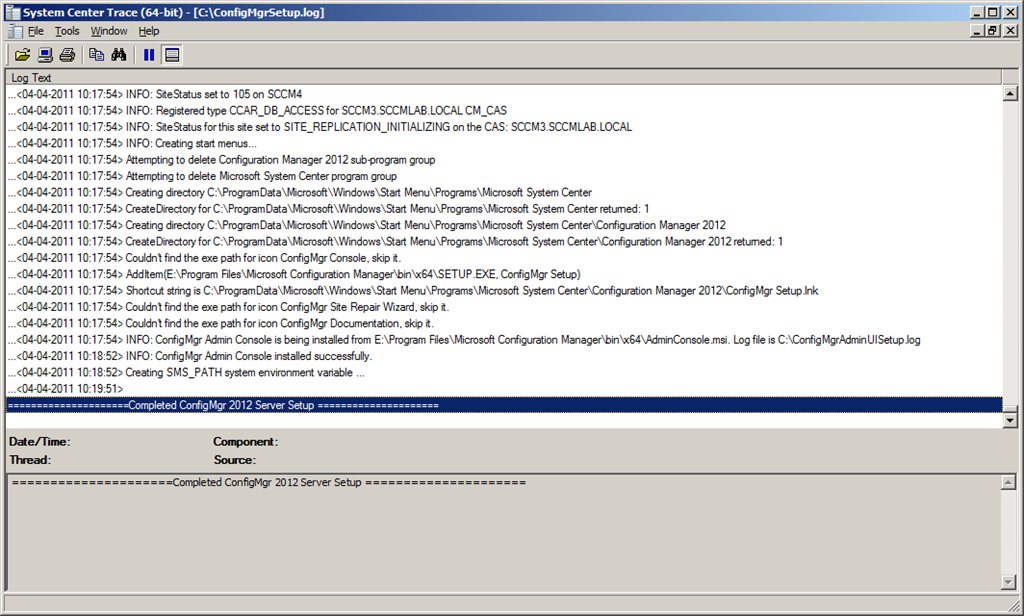 Perform a scripted installation of Configuration Manager 2012 Beta2