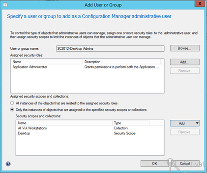 Role Based Administration change in ConfigMgr SP1 – CTGlobal