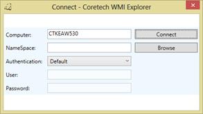 Coretech WMI & PowerShell Explorer–Using the WMI feature