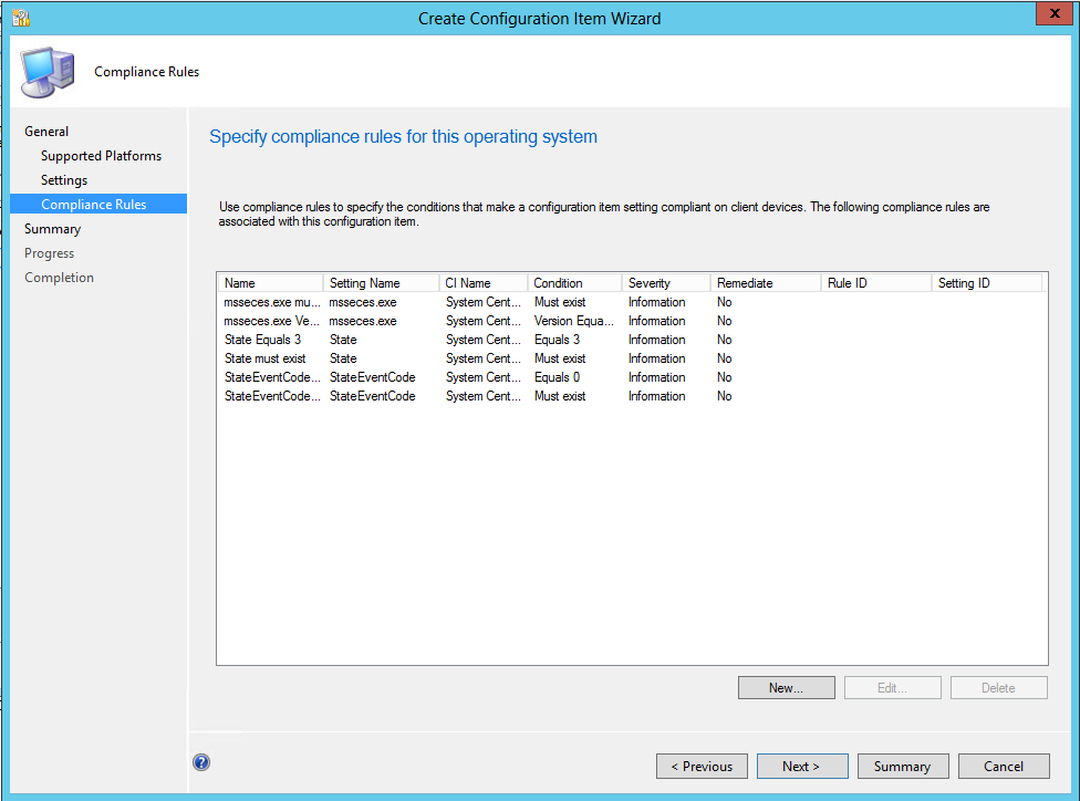 Configuration Items and Baselines, Example: SCEP Client