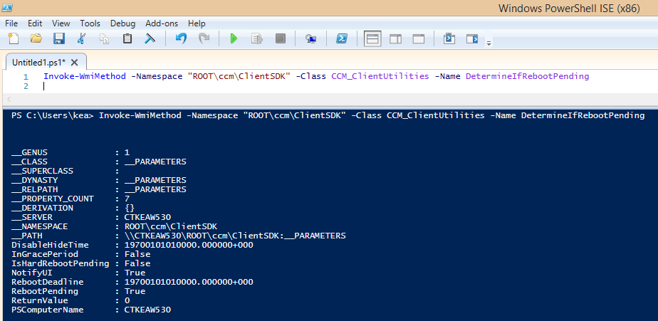 check eventlog with sccm 2012