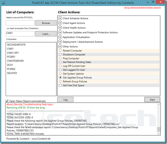 SCCM Client Actions Tool PowerShell Edition aka PoshCAT – CTGlobal
