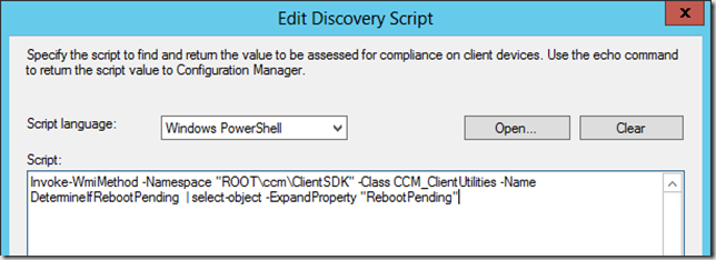 Dealing with reboot pending clients in Configuration Manager