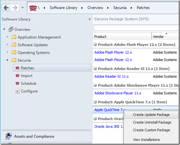 Managing 3rd  party Software Updates with System Center 2012
