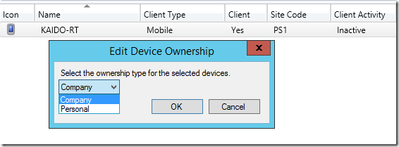 Change device ownership in Configuration Manager with PowerShell